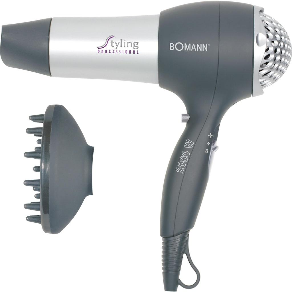 BOMANN Haartrockner HTD 889 CB, 2000 Watt, Aufsätze: 2