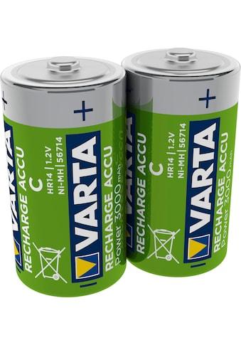 VARTA Batterie »RECHARGE ACCU Power vorgeladener D Mono NiMH Akku (2er Pack, 300mAh)  -  Wiederaufladbar ohne Memory - Effekt  -  Ready to Use Technologie« kaufen