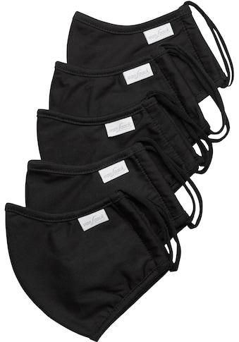 Van Laack Mund-Nasen-Maske, unifarben schwarz kaufen