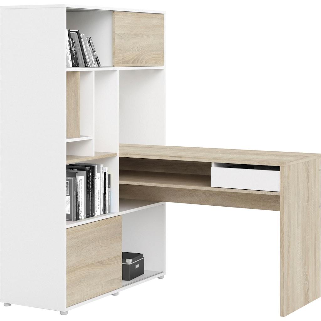 Home affaire Regal-Schreibtisch »Plus«, mit vielen Stauraummöglichkeiten, zeitloses Design