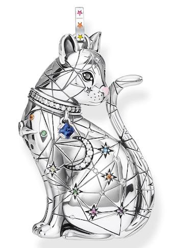 THOMAS SABO Kettenanhänger »Katze Sternenbild, PE857-340-7«, mit Emaille, synth.... kaufen