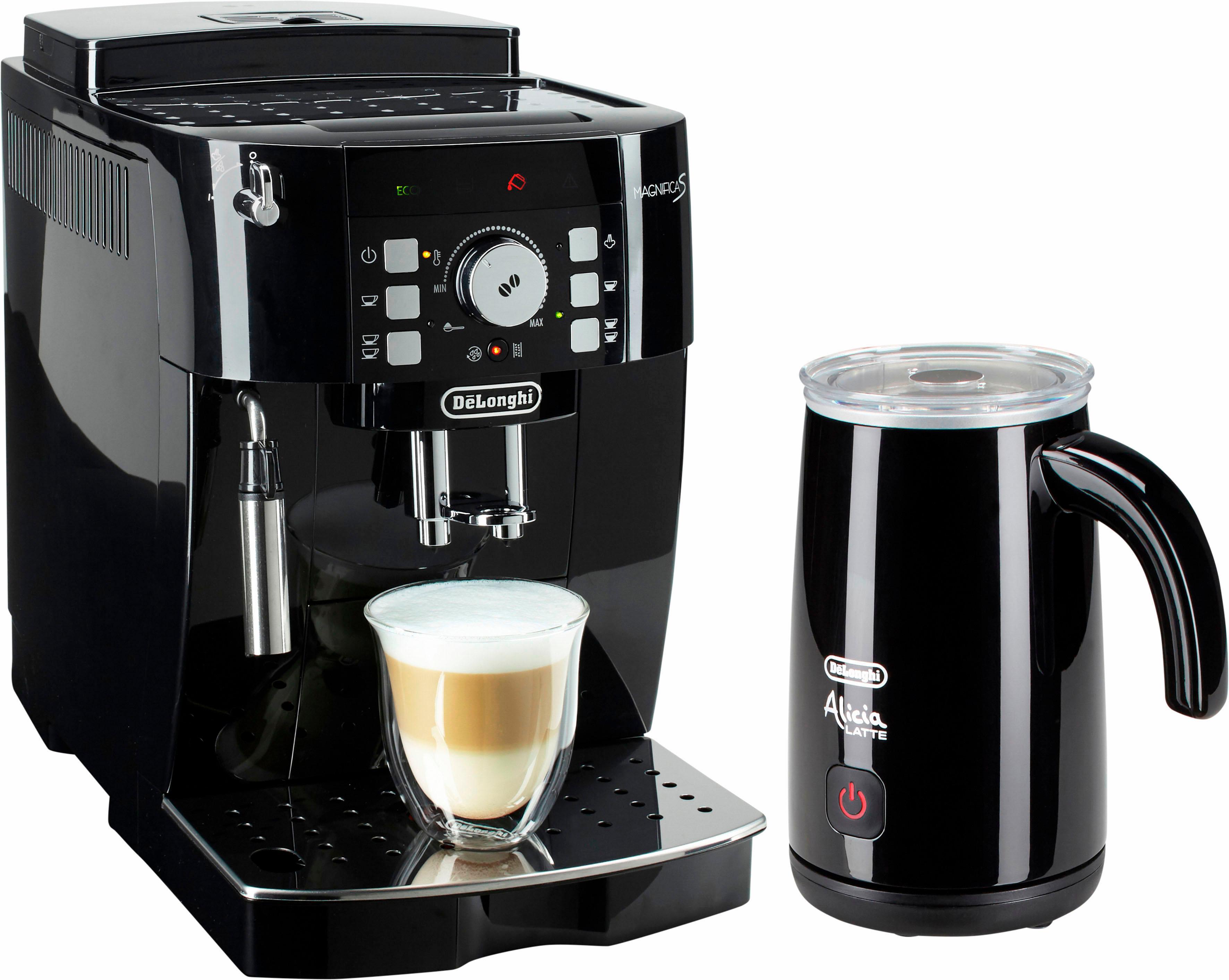 De'Longhi Kaffeevollautomat ECAM 21.118.B, 1, 8l Tank, Kegelmahlwerk   Küche und Esszimmer > Kaffee und Tee > Kaffeevollautomaten   Schwarz   Delonghi