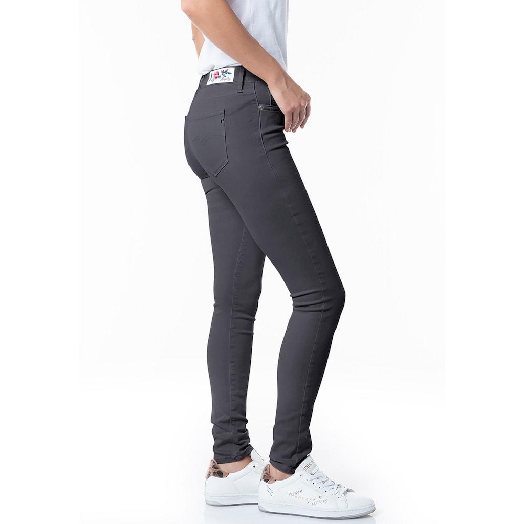 Replay Skinny-fit-Jeans, mit auffälligem Rosen-Markenlabel