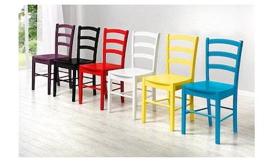 Home affaire Esszimmerstuhl, 2er Set, in zwei verschiedenen Farben erhältlich, in schöner Holzoptik, Sitzhöhe 45 cm kaufen