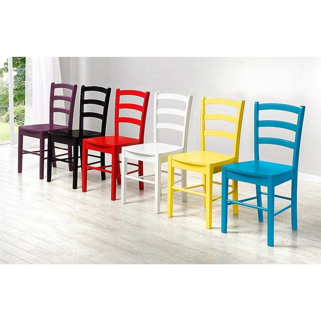 Home affaire Esszimmerstuhl, in zwei verschiedenen Farben erhältlich, in schöner Holzoptik, Sitzhöhe 45 cm
