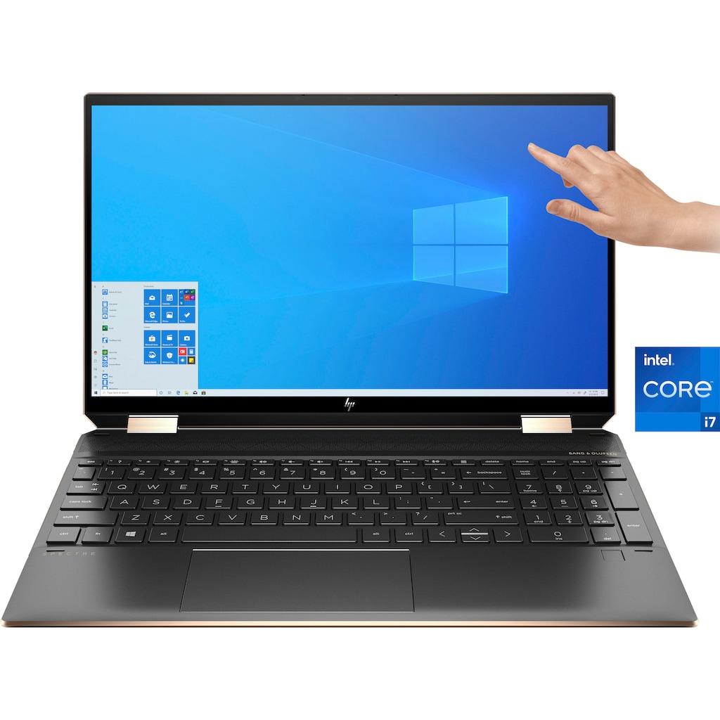 "HP Convertible Notebook »Spectre x360 15-eb1075ng«, (39,6 cm/15,6 "" Intel Core i7 Iris© Xe Graphics\r\n 512 GB SSD), Kostenloses Upgrade auf Windows 11, sobald verfügbar"
