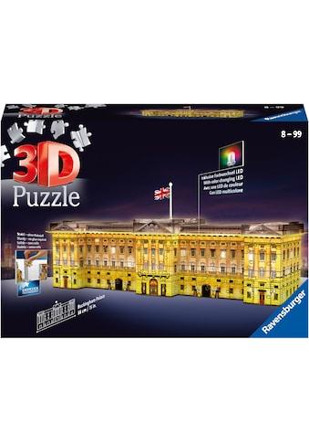 Ravensburger 3D-Puzzle »Buckingham Palace bei Nacht«, mit Leuchtmodul inkl. LEDs; Made in Europe, FSC® - schützt Wald - weltweit kaufen