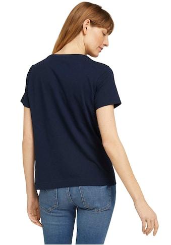 TOM TAILOR T-Shirt, mit Stickerei auf der Frontseite kaufen