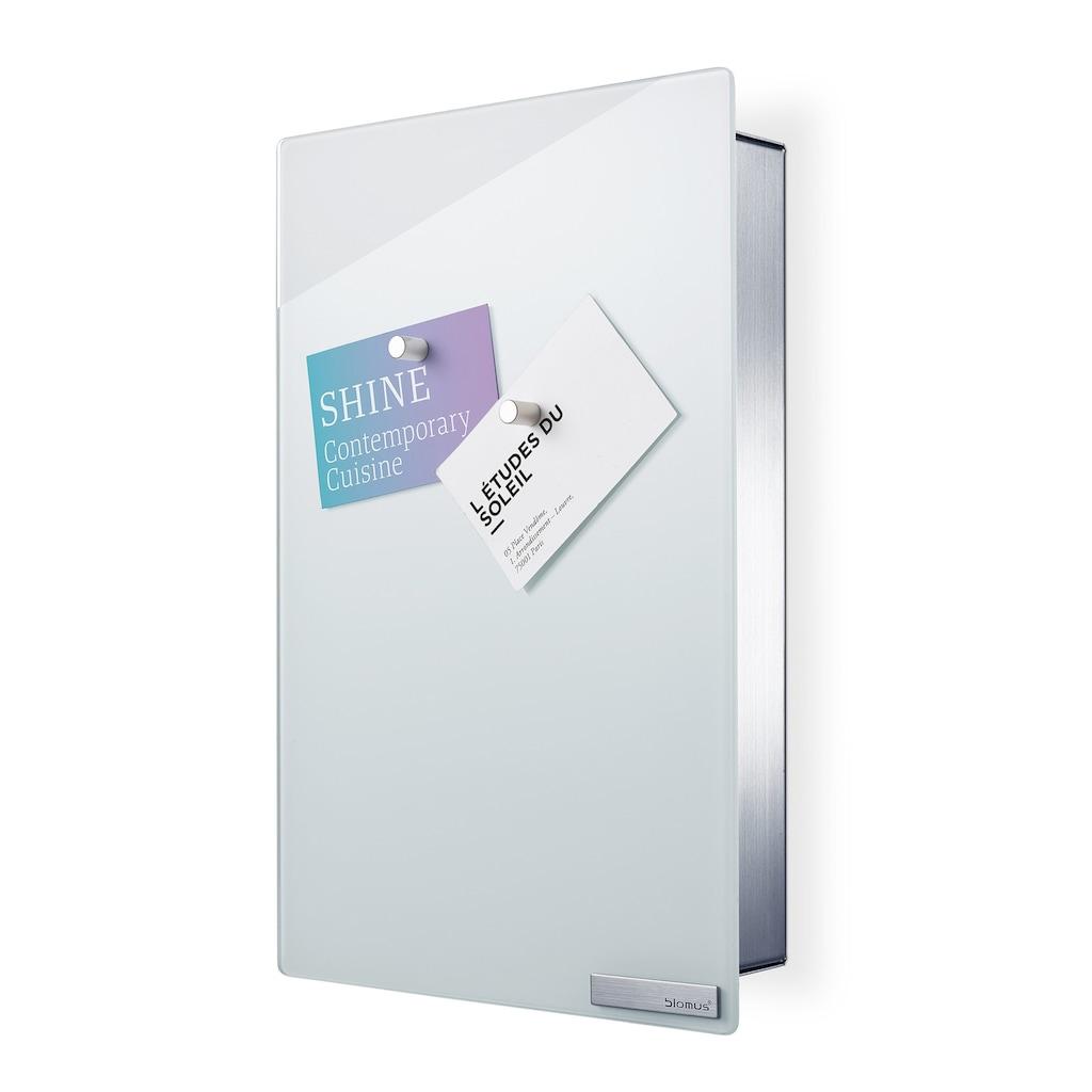 BLOMUS Schlüsselkasten »Velio«, Glasmagnettafel, Weiße Optik