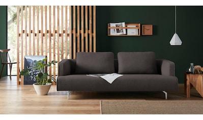 hülsta sofa 4-Sitzer »hs.440«, wahlweise in Stoff oder Leder, Gussfüße poliert kaufen