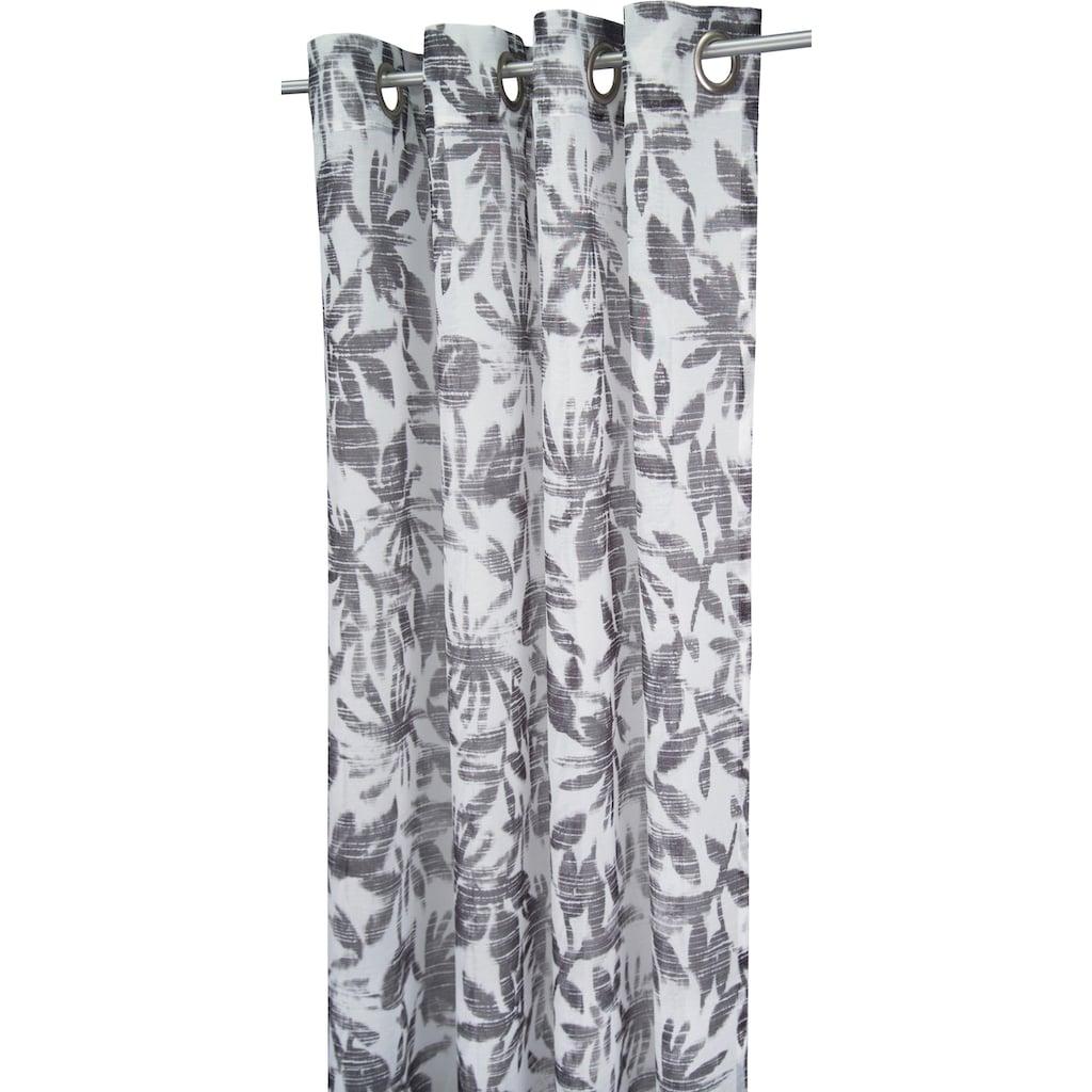 TOM TAILOR Vorhang »BATIC LEAVES«, HxB: 245x138