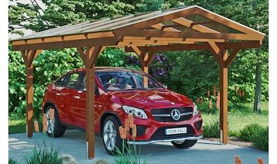Skanholz Einzelcarport »Westerwald«, Leimholz-Nordisches Fichtenholz, 326 cm, braun kaufen
