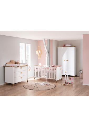 PAIDI Babymöbel-Set »Lotte & Fynn«, (4 tlg., Babybett, Wickelaufsatz und Wickelkommode, 2-türiger Schrank), Steiff by Paidi kaufen