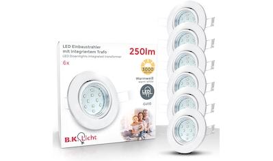 B.K.Licht LED Einbauleuchte »Hila«, GU10, 6 St., Warmweiß, LED Einbaustrahler schwenkbar weiß GU10 Decken-Spot Einbauspot 6er SET kaufen