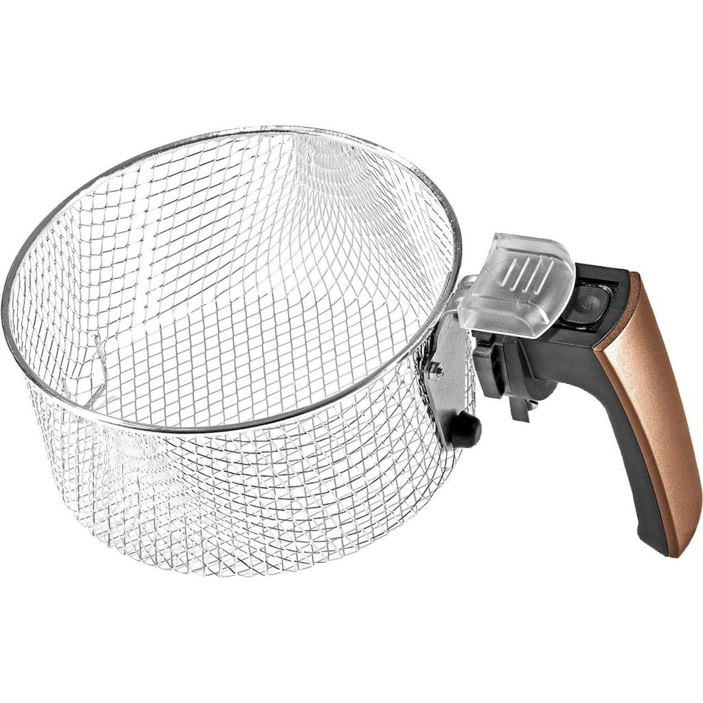 GOURMETmaxx Heissluftfritteuse »Digital 2,5l - Schwarz/Kupfer«, 1500 W, Fassungsvermögen 2 kg