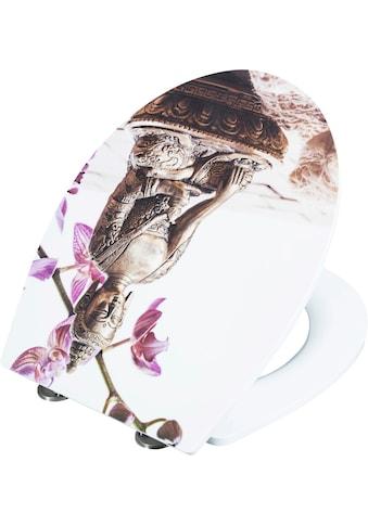CORNAT Packung: WC - Sitz »WC - Sitz BUDDHA«, Duroplast Slim - WC - Sitz BUDDHA kaufen