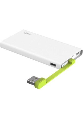 Goobay PowerBank »mit integriertem USB Kabel und 2x USB Anschlüssen« kaufen