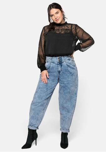 Sheego Stretch-Jeans, in Moonwashed-Optik mit Bollon Leg kaufen