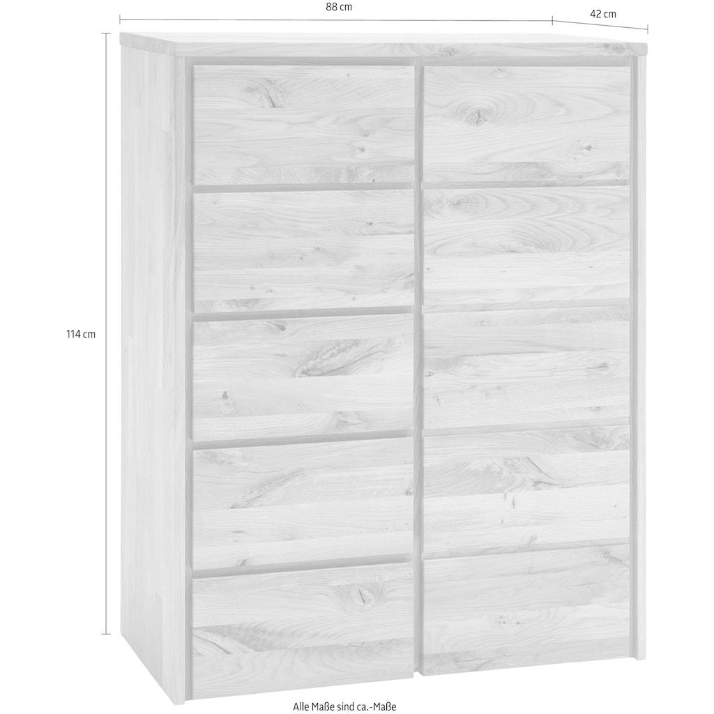 Home affaire Kommode »Zetra«, aus Massivholz, alle Schubladen mit Soft-Close-Funktion, Breite 88 cm