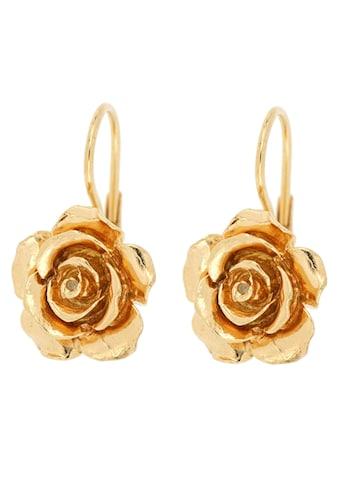 Firetti Paar Ohrhänger »Rosen, Glanz, vergoldet« kaufen