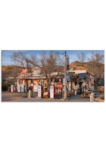 Artland Glasbild »Tankstelle an der Route 66 in Arizona« kaufen