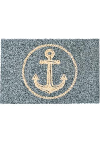 my home Fußmatte »Anker«, rechteckig, 5 mm Höhe, In- und Outdoor geeignet, waschbar kaufen