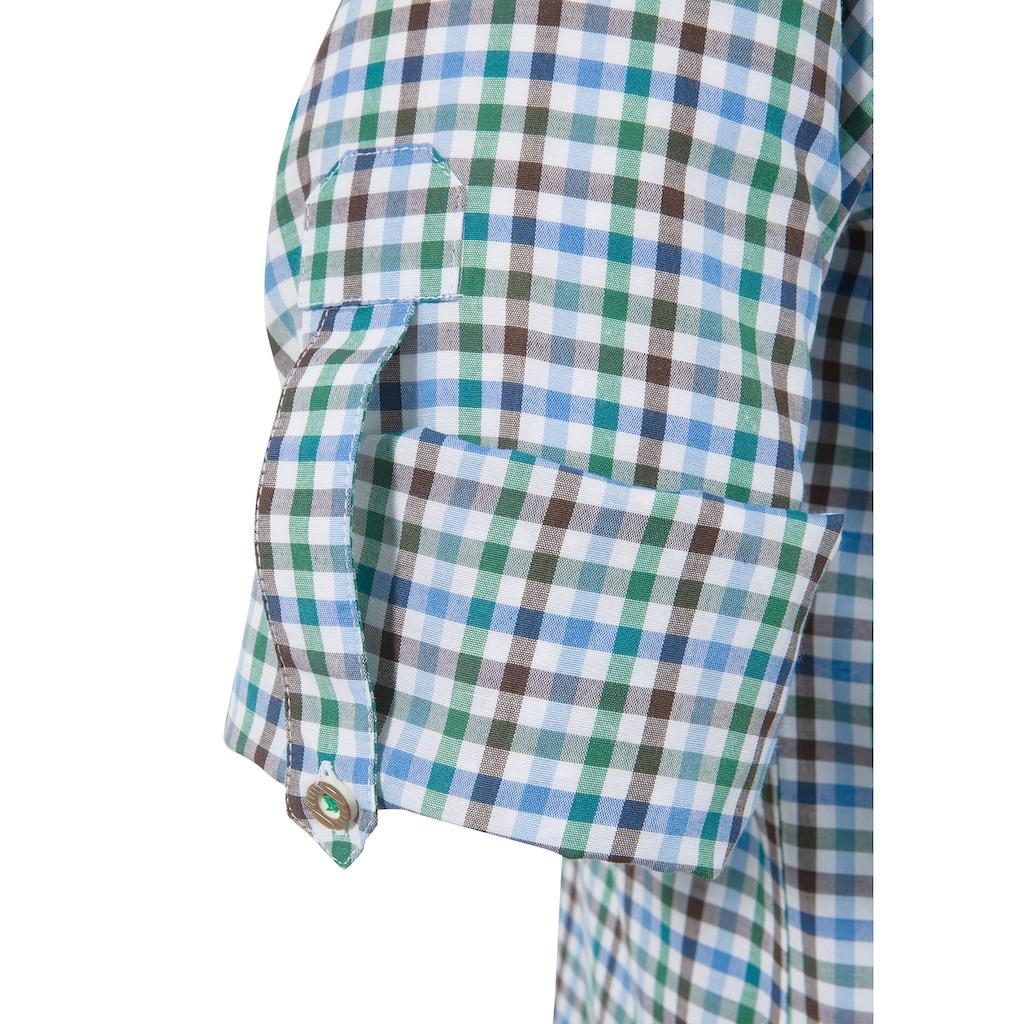 Stockerpoint Trachtenhemd, mit Krempelärmel