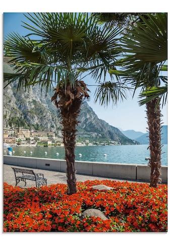 Artland Glasbild »Gardasee Limone sul«, Europa, (1 St.) kaufen