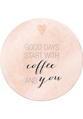 Leinwandbild »Confetti & Cream  -  Good Days start with coffee« kaufen