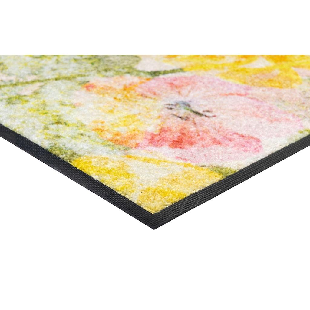 wash+dry by Kleen-Tex Fußmatte »Rosaria«, rechteckig, 7 mm Höhe, Schmutzfangmatte, In- und Outdoor geeignet, waschbar