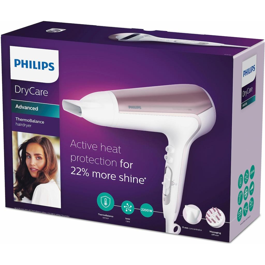 Philips Haartrockner »BHD186/00«, 2200 W, 2 Aufsätze, DryCare Advanced mit ThermoBalance Sensor