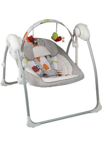 BabyGo Babywippe »Dandly, grey«, bis 9 kg, elektrisch, mit Sound kaufen