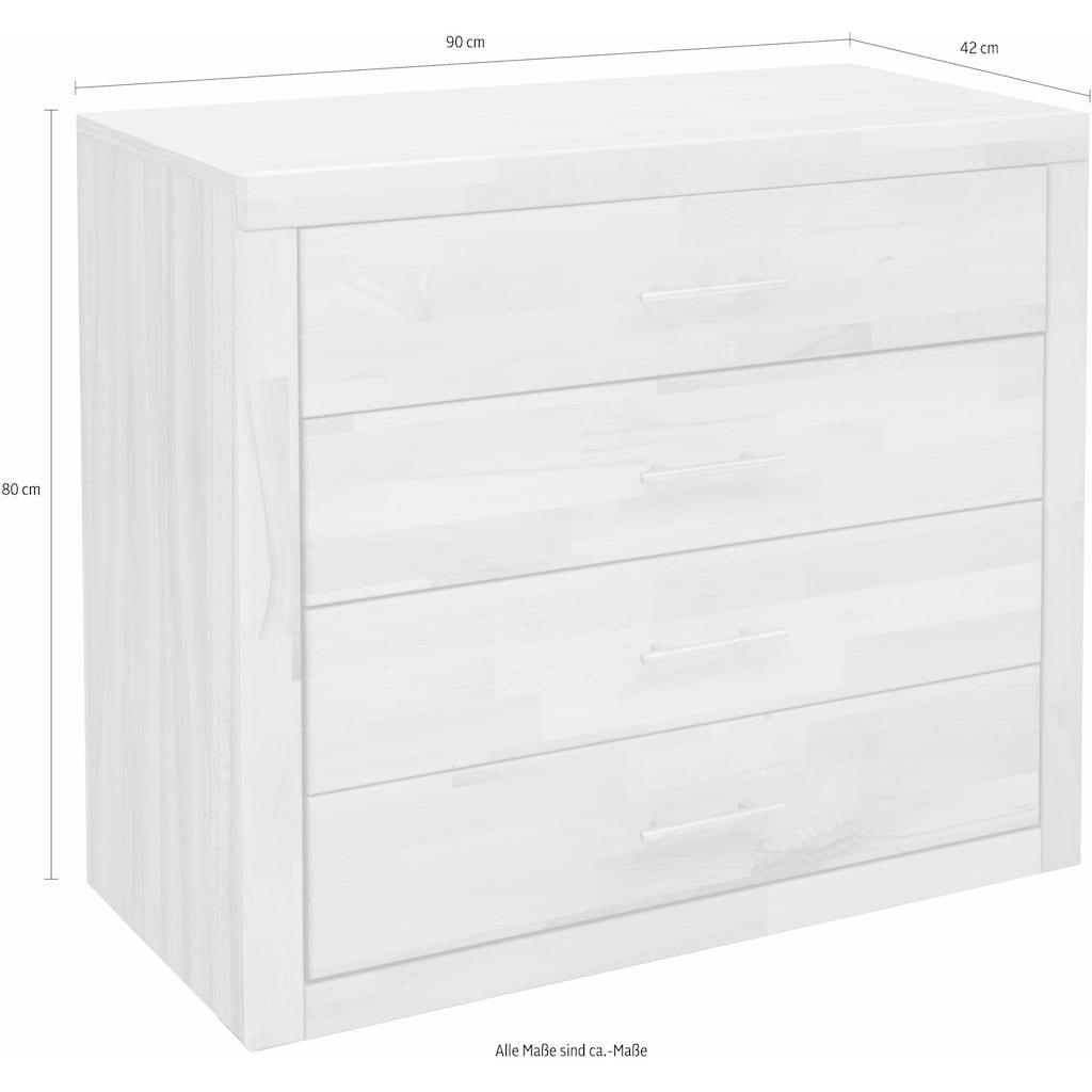 Home affaire Kommode, Triest», mit 4 Schubladen, Breite 90 cm