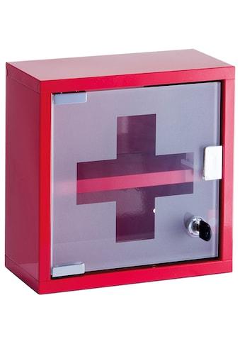 ZELLER Medizinschrank Metall, rot, 25x12x25 cm kaufen
