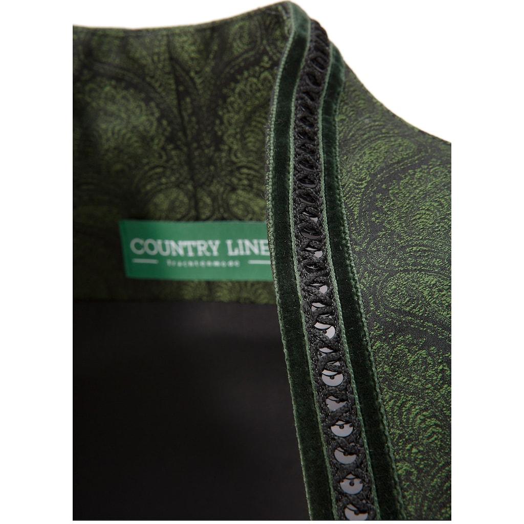 Country Line Dirndl, (2 tlg.), midi in glänzender Optik