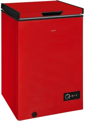 exquisit Gefriertruhe »GT100-330E rot«, 83,5 cm hoch, 54,6 cm breit kaufen