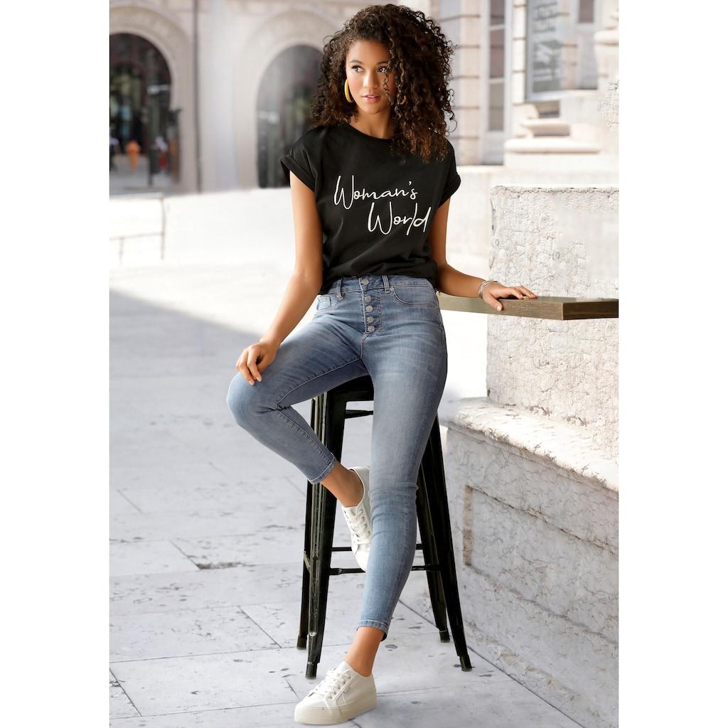 LASCANA T-Shirt, mit Frontprint