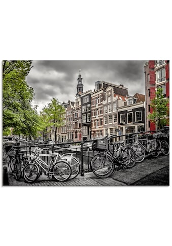 Artland Glasbild »Amsterdam Bloemgracht«, Fahrräder, (1 St.) kaufen