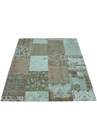 DELAVITA Teppich »Ella«, rechteckig, 10 mm Höhe, Vintage Design, Wohnzimmer kaufen