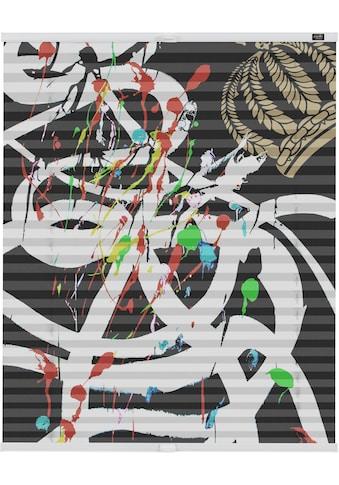 Plissee, »Klemmfix Motiv Art«, POMPÖÖS by Lichtblick, blickdicht, ohne Bohren kaufen
