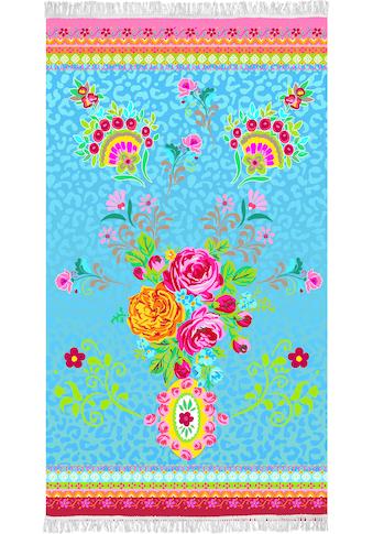 Happiness Strandtuch »Wild rose«, (1 St.), mit Fransen kaufen