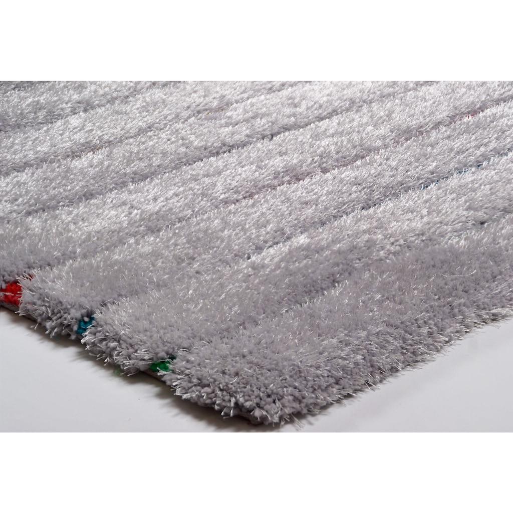 TOM TAILOR Hochflor-Teppich »Soft Hidden Stripes«, rechteckig, 35 mm Höhe, super weich und flauschig