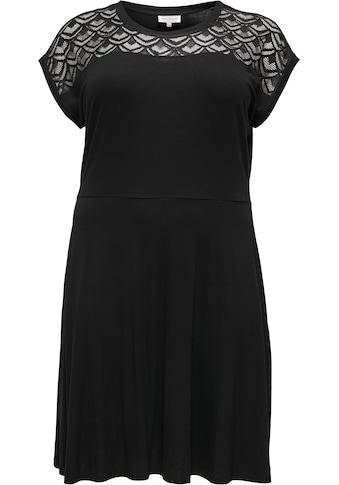ONLY CARMAKOMA Shirtkleid »CARFLAKE«, Mit Lochstickerei am Oberteil kaufen
