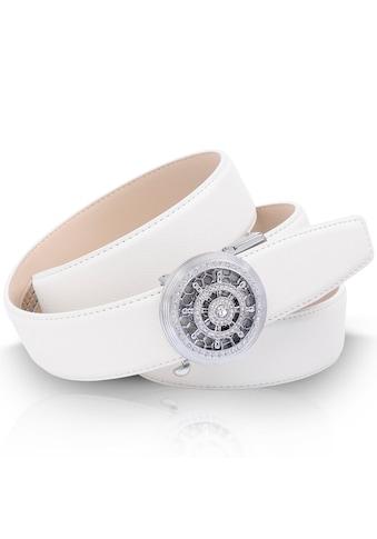 Anthoni Crown Ledergürtel, mit silberfarbener runder Automatik-Schließe und drehendem... kaufen
