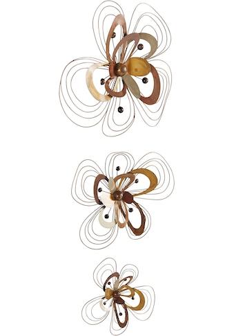 Home affaire Wanddekoobjekt »Blüten« (Set, 3 Stück) kaufen