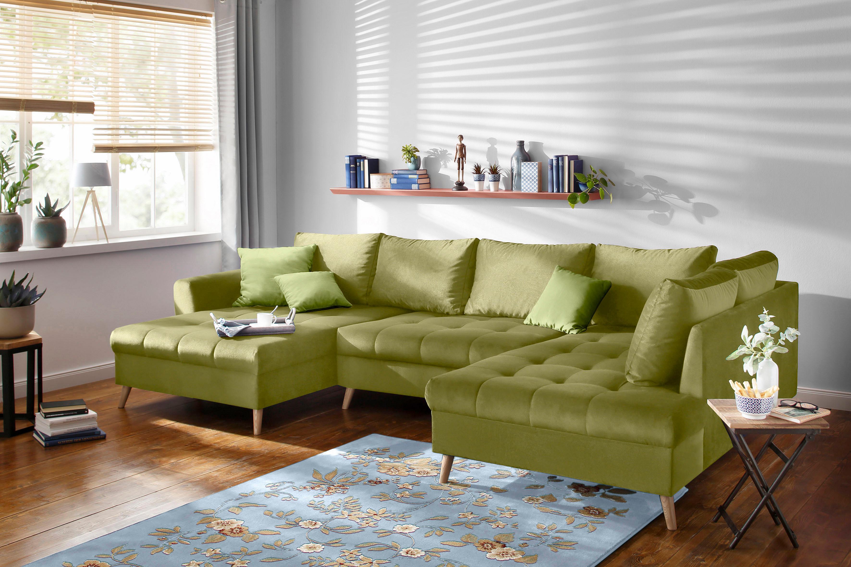 Home affaire Wohnlandschaft »Penelope« | Wohnzimmer > Sofas & Couches > Wohnlandschaften | Grün | home affaire