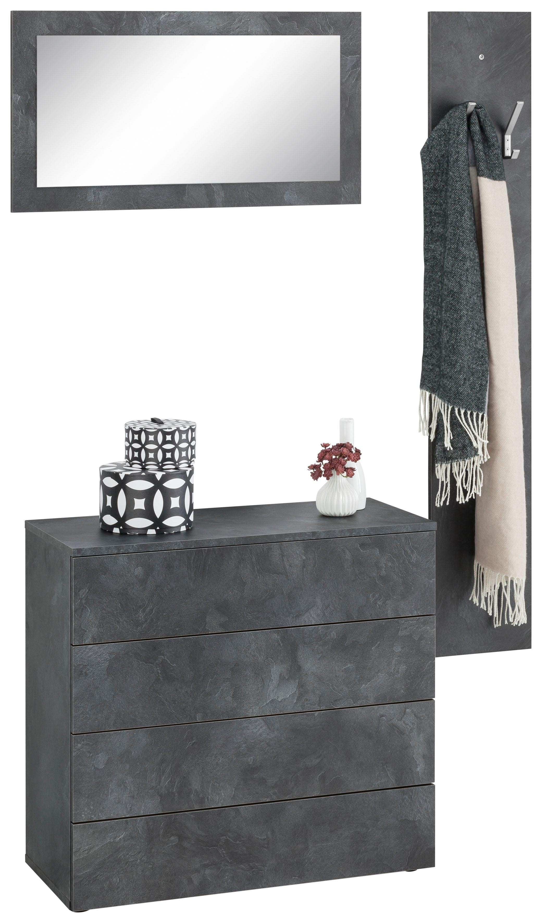 grau beton garderoben sets online kaufen m bel suchmaschine. Black Bedroom Furniture Sets. Home Design Ideas