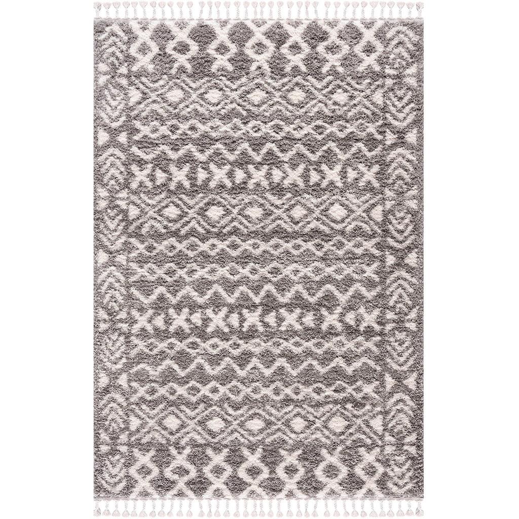 Carpet City Hochflor-Teppich »Pulpy 514«, rechteckig, 30 mm Höhe, mit Fransen