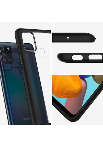 Spigen Smartphone-Hülle »Spigen Galaxy A21s Case Ultra Hybrid Matte«, Schwarz kaufen