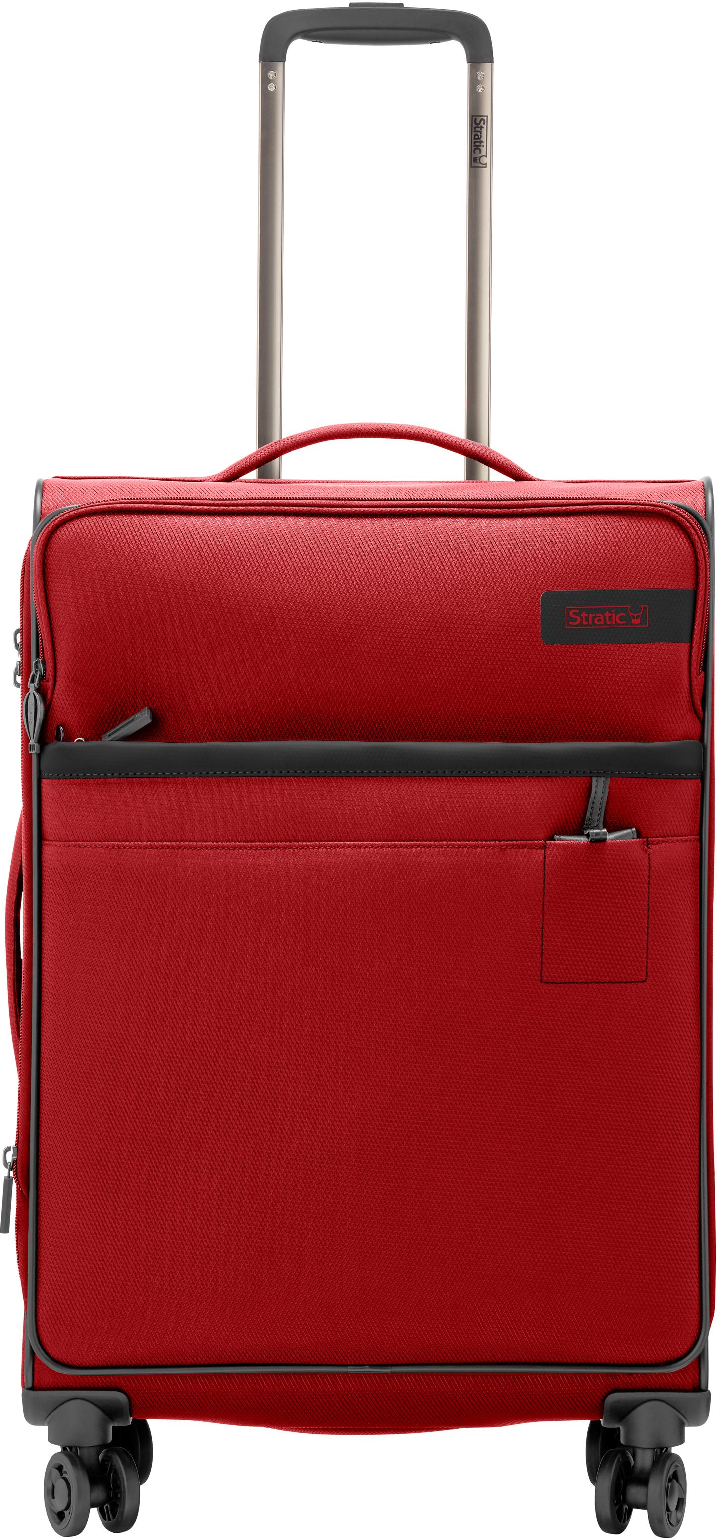 Stratic Weichgepäck-Trolley Stratic Light M, red, 4 Rollen | Taschen > Koffer & Trolleys > Trolleys | Rot | Stratic